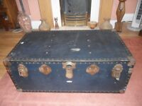 blue overpond steamer trunk , SS CANBERRA history,