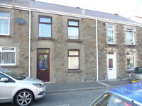 3 bedroom trad terraced house Down St Clydach Swansea £525 available approx end March to mid April
