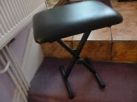 foldable piano/keyboard seat,fully adjustable, as new condition,only £19,collect from stanmore,middx