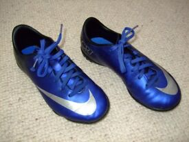 Nike CR7 Blue Astroturf Trainers - size UK 13 (junior)