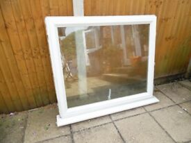 ZENITH WHITE UPVC DOUBLE GLAZED BATHROOM WINDOW