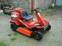 Ride rough terrain/cut mower
