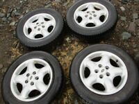 land rover freelander 1 alloy wheels good tyres