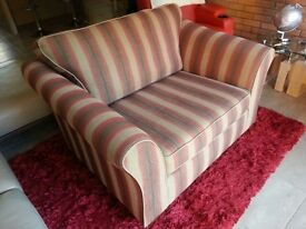 Large Red and Beige Cuddle Seat/Sofa/Couch