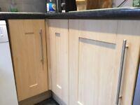 Kitchen , doors,drawers,hob,sink,integrated fridge + freezer,oven cooker hood