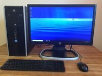 "FULL SET HP Elite - i5 3.33Ghz, 8GB Ram, 500GB, NVIDIA + 22"" HD Monitor Windows 10 Desktop PC"