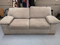 large grey 3 seater double sofa bed