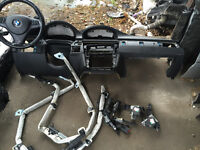 BMW E90 LEFT HANDED 3 SERIES SAT NAV DASH AIR BAG KIT FOR SALE COMPLETE CALL TODAY THANKS