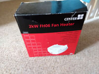 REDUCED - 2kW Center Electric Fan Heater (FH06)