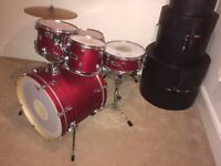 Mapex V Series Drum Kit with Cases