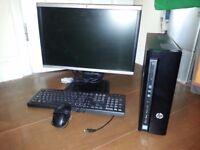 """HP SLIMLINE PC / 22"""" HP SCREEN / HP KEYBOARD MOUSE / INBUILT WIRELESS"""