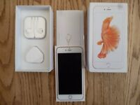 Immaculate with Warranty Apple i phone 6s Plus complete with box and unused accesories