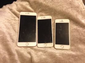 Broken iPhones