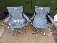 2 Folding Higear camping chairs