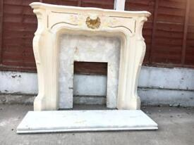 Marble surround and fireplace