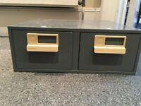 Bisley card index cabinet 2 drawer for 152x102mm cards