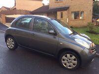 Nissan Micra SE petrol 5 door hatchback 1240cc, 1 owner last 10 years, MOT Aug, clean & reliable