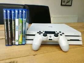 Ps4 pro glacier white 4k hdr god of war far cry 5 and other games