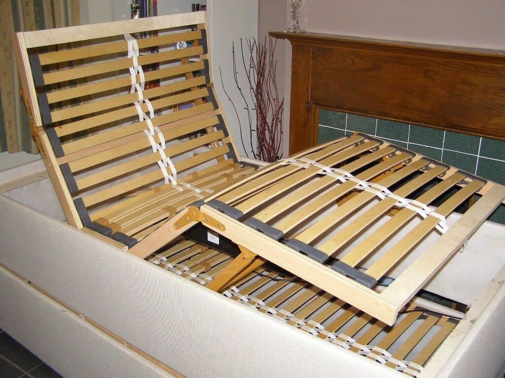 Rise and recline single bed (two available)