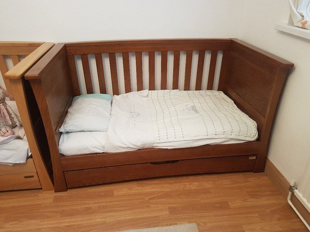 Mamas and Papas cotbed - Ocean Collection + Mattress + etc (2 available)