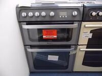 EX-DISPLAY GRAPHITE HOTPOINT ULTIMA ALL GAS 60 WIDE COOKER REF: 13133