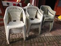 Free - Plastic Garden Chairs