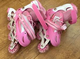 Pink Light up roller blades