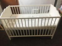 New Baby Cot With Unopened Matress