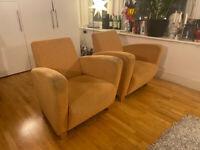 Top Quality Swedish Designer Sofa & 2 Matching Armchairs