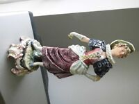 Porcelain Figures - Period Couple - Foreign Stamped on Bases