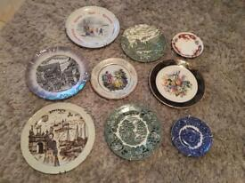 Vintage plates, been displayed on the wall all in good condition.
