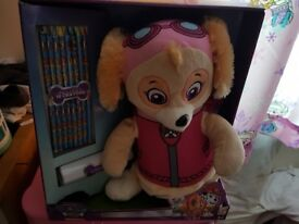 Paw patrol back pack with coloring accessories