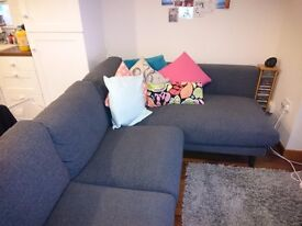 Ikea Nockeby Corner Sofa (2 Seater with Chaise Longue) - PRICE REDUCED!