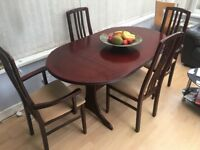 Large extending dining table & chairs - ideal for Easter entertaining!!!
