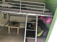 Double loft bed frame
