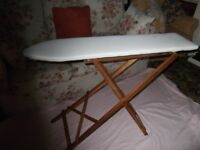 For Sale Wooden Ironing board, 1930 -1940, new cotton cover