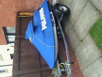 POLARIS SLX jet ski. Works perfect. Very good condition. New wheels tyres and bearings on trailer