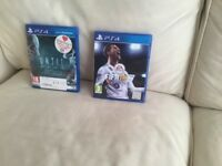 Fifa 18 and Until Dawn PS4 games