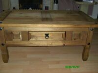oak coffee table and sideboard with storeage space
