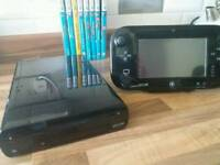 Wii u console and 8 games