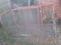 3 SIDED FOR WALL.RABBIT GUINEA PIG/ PET RUN ENCLOSURE FENCE CAGE,DETACHABLE ROOF-6FT X3FT X 3FT