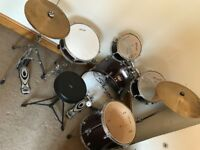 Stagg Drum Kit complete with cymbals in excellent condition