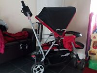 Double buggy/pushchair perfect for two toddlers