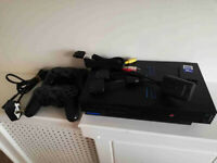 PS2 with 2x Wireless Controller 16MB Memory Card