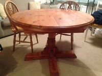 Solid wood table - 6 seater table - farmhouse table - extendable table