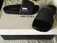 Brand new black prada sliders
