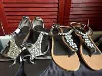 4 pairs of next sandals *Never worn