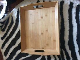 Sturdy wooden tray