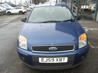 SERVICE HISTORY! 2009 59 FORD FUSION 1.4 ZETEC 5D 80 BHP *** GUARANTEED FINANCE **** PART EX WELCOME