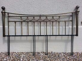 vintage brass headboard